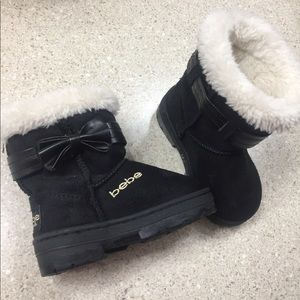 Bebe Black Suede Boots sz 5